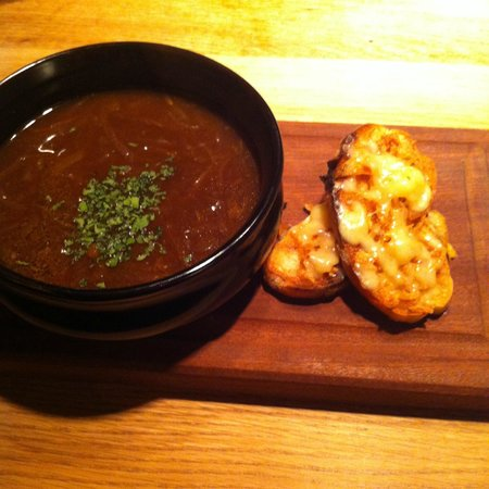 The Grill On The Alley : French Onion Soup with Cheese Croutons