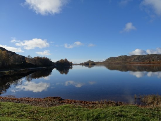 Wildside Highland Lodges: view from just up the road en route to Fort Augustus