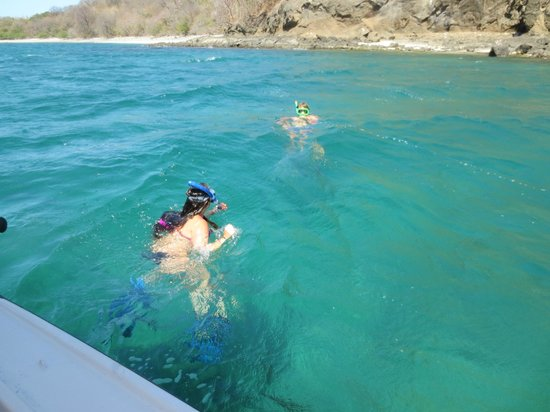 Allegro Papagayo: snorkeling with Matt