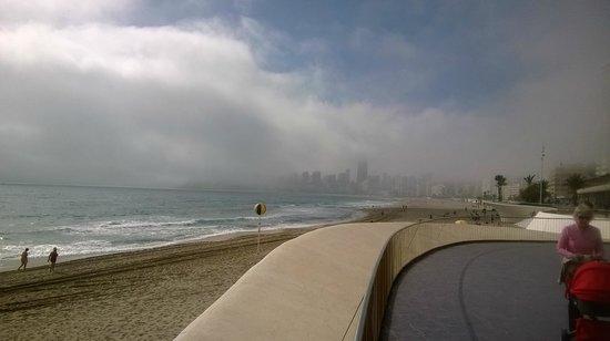 El Casco Antiguo de Benidorm: Fog in Feb.