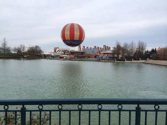 Disney's Sequoia Lodge : View of the Disney village across the lake