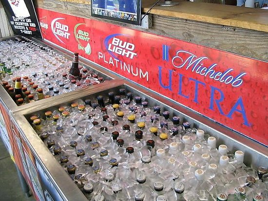 Willies Grill and Ice House: Beer Cooler in Entryway