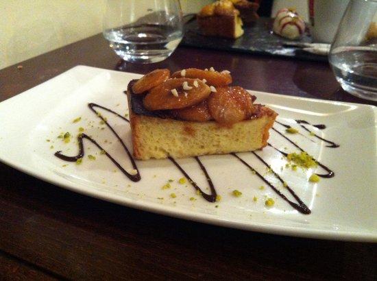 Danton...restaurant : Brioche façon pain perdue et bananes caramélisées...un bonheur!