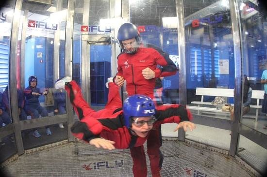 iFLY Indoor Skydiving - Orlando: 1st time flying godmother