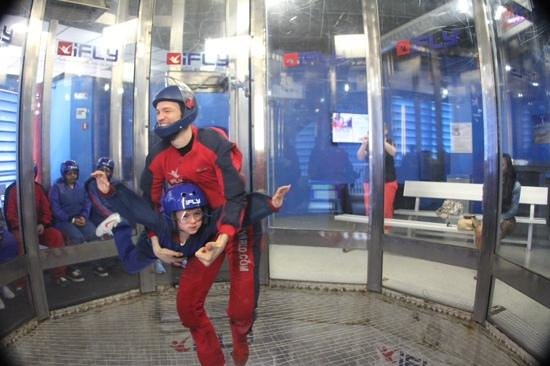 iFLY Indoor Skydiving - Orlando: 8 year old first time flyer