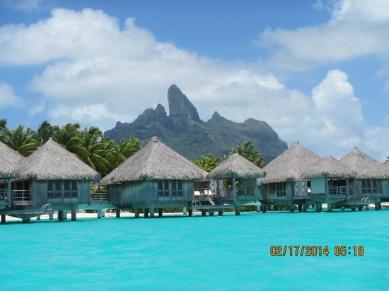 View Of Bungalows Picture Of The St Regis Bora Bora