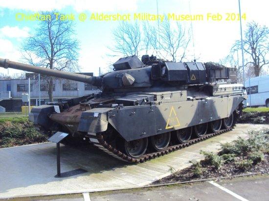Aldershot Military Museum: Chieftan main battle tank