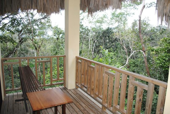 Amber Sunset Jungle Resort : View from the second floor balcony of the Creole Treehouse