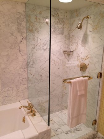 Grand America Hotel: Beautiful marble shower
