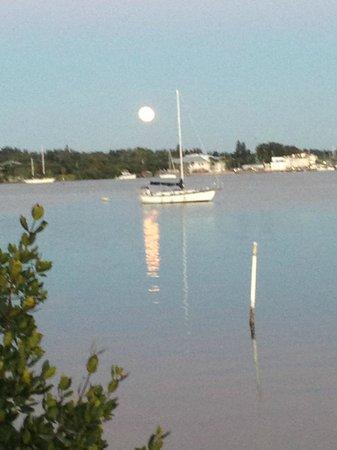Bridge Tender Inn: Moonrise-Veiw from the restaurant