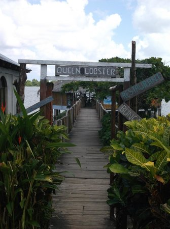 Queen Lobster Bungalows: QLB Entry from the Street