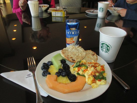 Sheraton Salt Lake City Hotel: My breakfast plate from club lounge on last day.