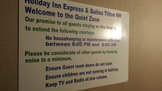 Holiday Inn Express & Suites Tilton: Quiet Zone --YES!