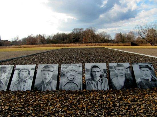 Mosaic Non-Profit Sachsenhausen Memorial Tours: Fotografías que se pusieron a modo de memorial en Sachsenhausen