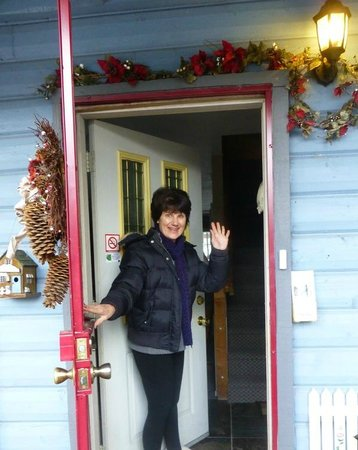 Fall Inn to Nature: Inn keeper Annette Fallaha was there to greet us on arrival.