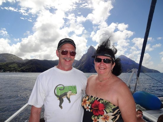 Barefoot Holidays Saint Lucia Day Tours: Approaching the Pitons.