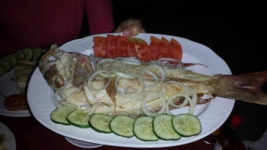 Casa Costa Azul: repas poisson, c'est une portion individuelle !!!!