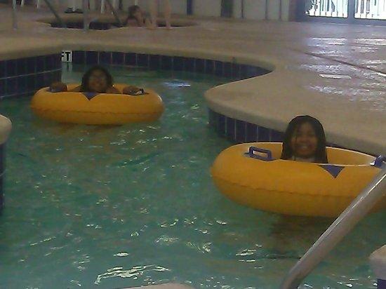 Myrtlewood Villas: my girls in the pool
