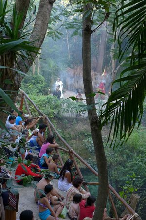 Xcaret Eco Theme Park: A Viewpoint Of Spectators Watching A Daytime Performance of Mayan Origin