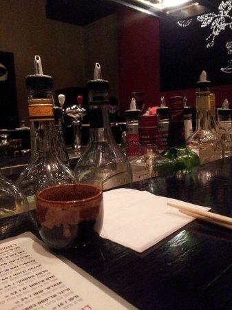 Mojo Asian Bar: sake and menu