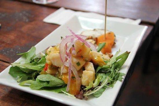 Miami Culinary Tours - Private Tours : O início do tour: ceviche com toque boliviano