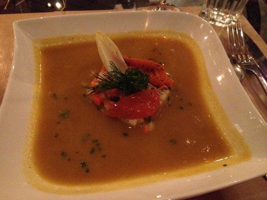 L'Endroit : Soupe de carottes aux châtaignes