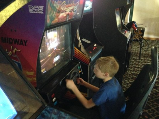 Grand Ely Lodge: Warning: old video games will eat quarters!