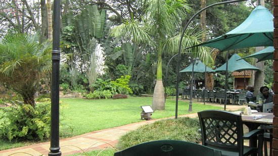 Garden cafe at the Fairview Hotel