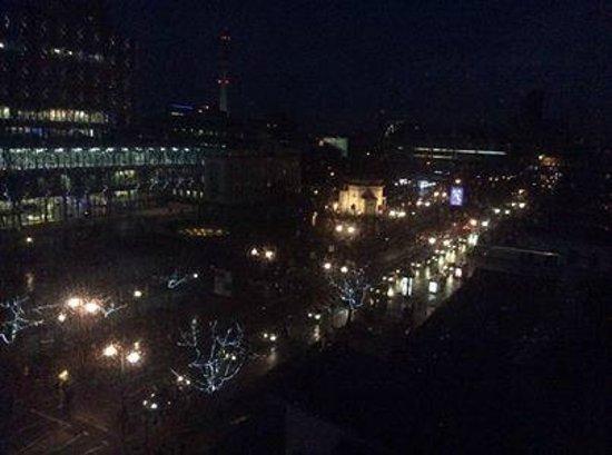 Hyatt Regency Birmingham: night time view from our room
