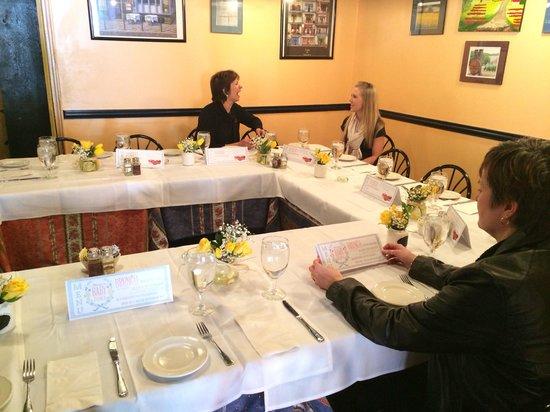 La Nicoise Cafe : Custom seating arrangement!