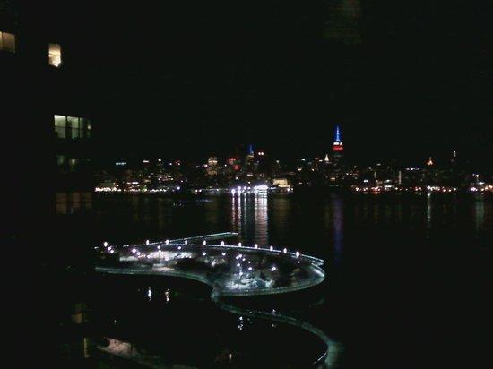 W Hoboken: Night view of NYC