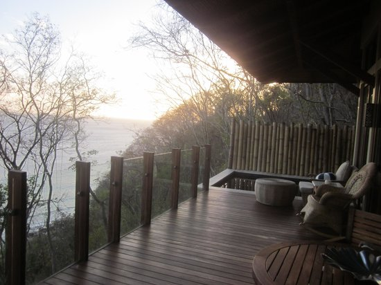 Mukul Beach Golf & Spa: Our deck looking at sunset