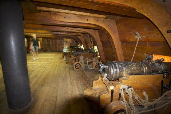 Vasa-Museum: cannon deck