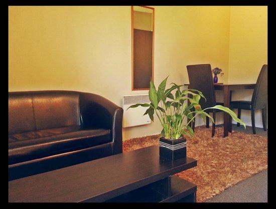 Pancake Lodge: Living area - Studio Unit