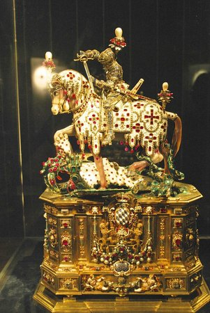 Munich Residence (Residenz Munchen): St. George killing the dragon-this holds more than 2,000 gems