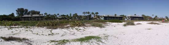 view of Sanibel Inn from the beach