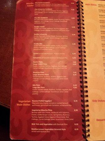 Maschu Maschu: dinner menu 2