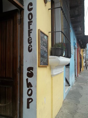 """Cafe Boheme: Entrance to the """"Best coffee in all of Guatemala!"""""""