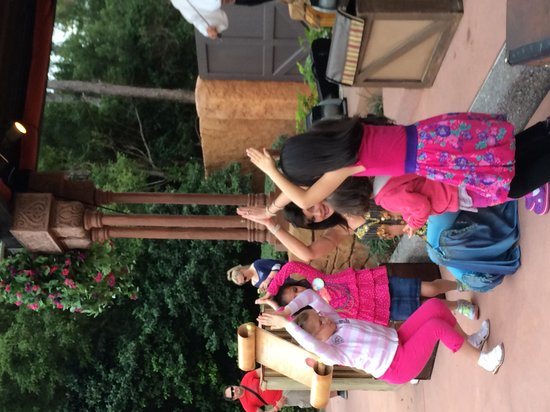 Epcot: 4.  Girls join in the dancing