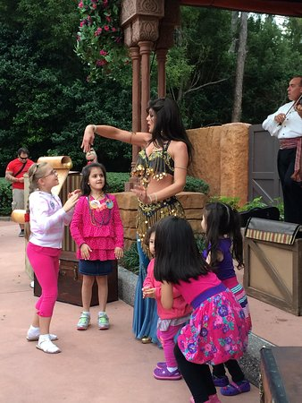 Epcot: 5.  Perfecting graceful hand motions