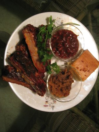 BJ's Nevada Barbecue Company: Rib dinner from our to-go order