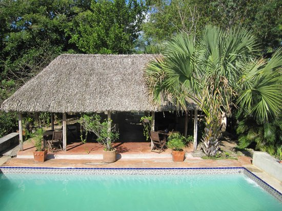 Hacienda Hotel Santo Domingo : Überdachter Sitzbereich