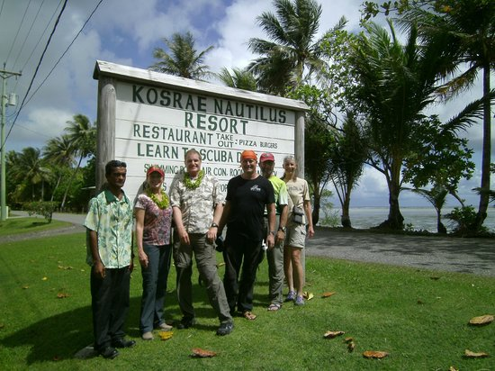 Kosrae Nautilus Resort : In front of the hotel