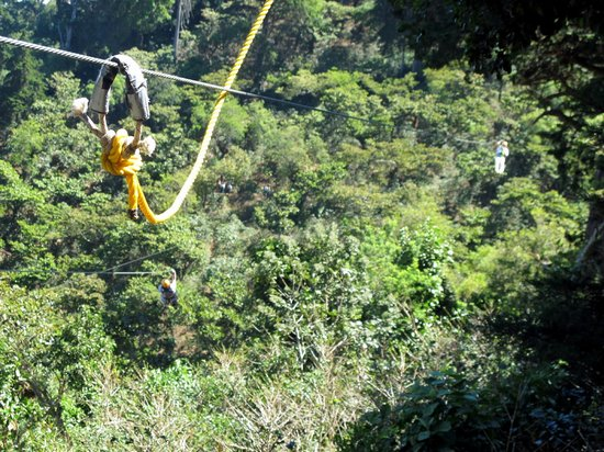 Apaneca Canopy Tour: Long ziplines (280 meters)