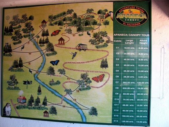 Apaneca Canopy Tour: Zipline Route Map