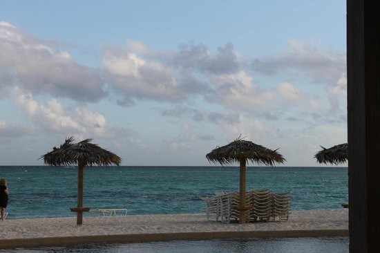 Grand Lucayan, Bahamas: long shadows in late afternoon.