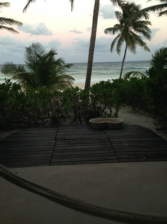 The Beach Tulum: View from the patio