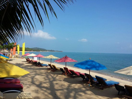 The Hammock Samui Beach Resort : Beachview from Hammock restaurant