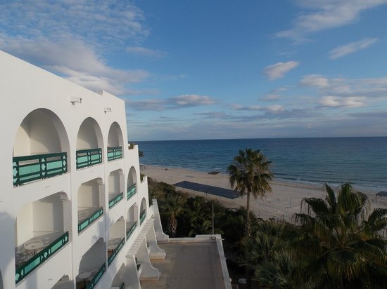 Marhaba Beach Hotel: The view of the beach from the balcony in my bedroom.