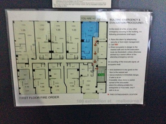 Mantra 100 Exhibition: Floor plan Room 101 highlighted in Blue